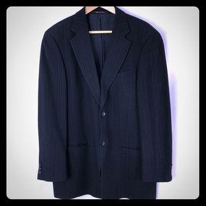 Armani Collezioni blazer dark blue white stripes